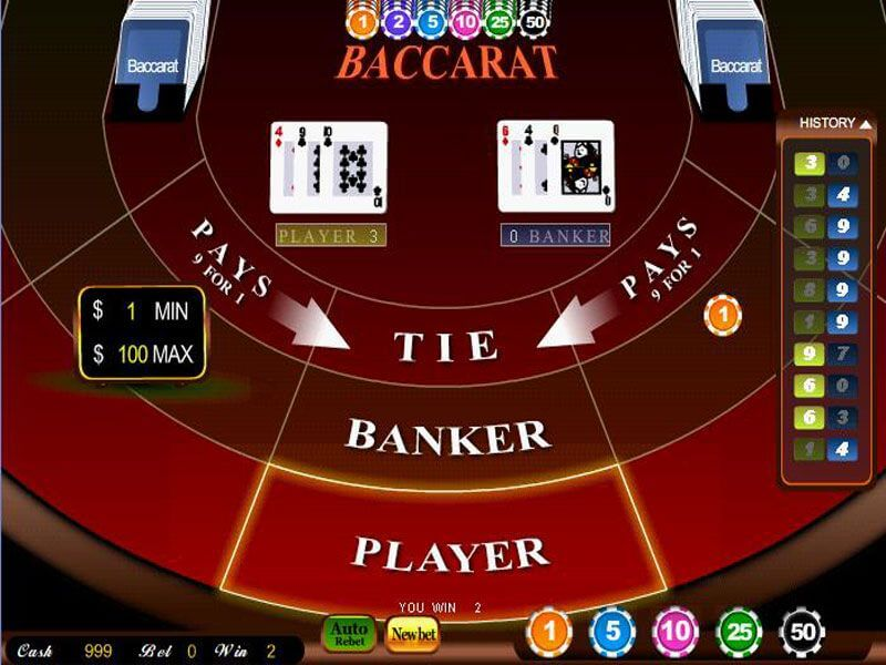 Baccarat casino online types and casinos with live dealer's